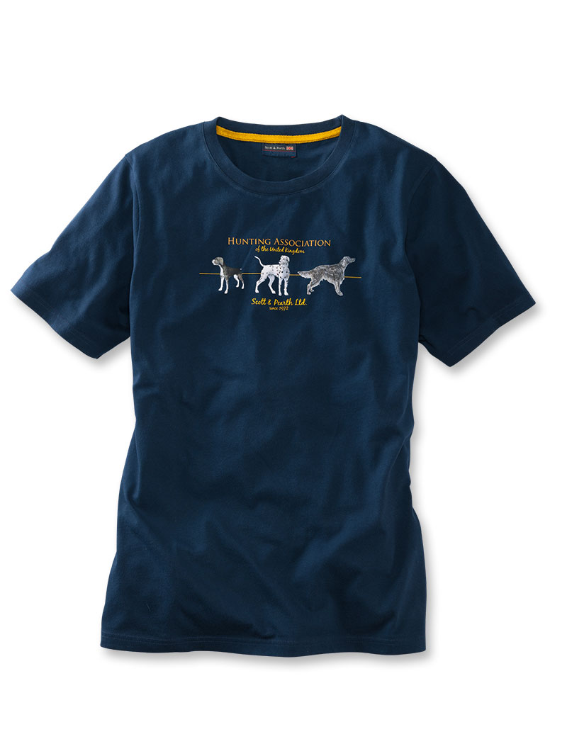 Sommer-T-Shirt 'Hunting Association' in Navy Bild 2