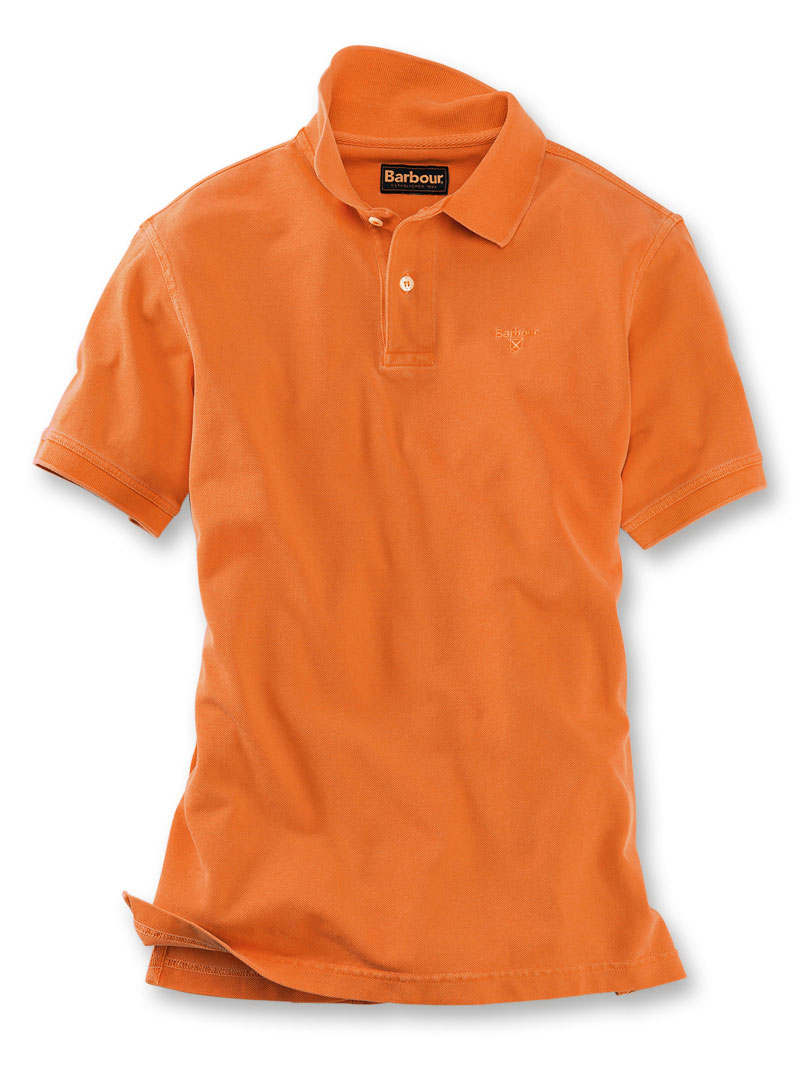 Barbours 'Sports Polo' in Orange Bild 2