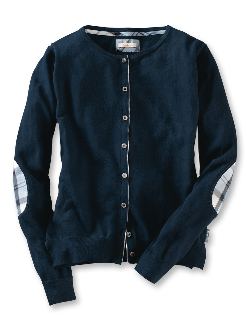Barbour-Cardigan 'Breedon' in Navy Bild 2