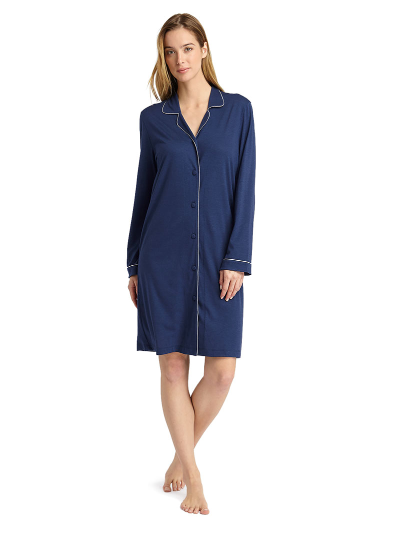 Jersey-Nightshirt 'Midnight' in Midnight Blue