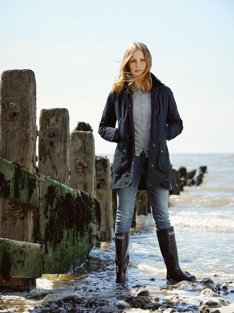 Barbour-Wachsparka 'Bower' in Navy Bild 2