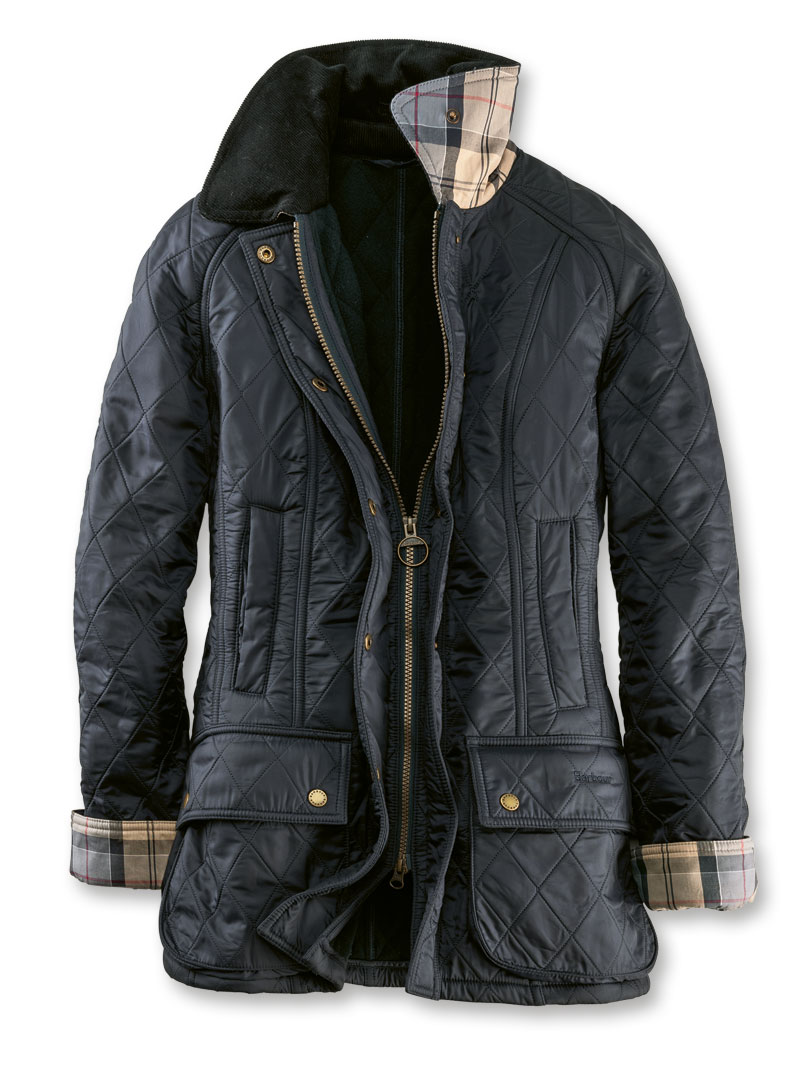 Barbour-Steppjacke in Navy für Damen