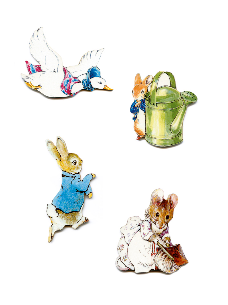 4er-Set Kühlschrankmagnete 'Peter Rabbit & Family'