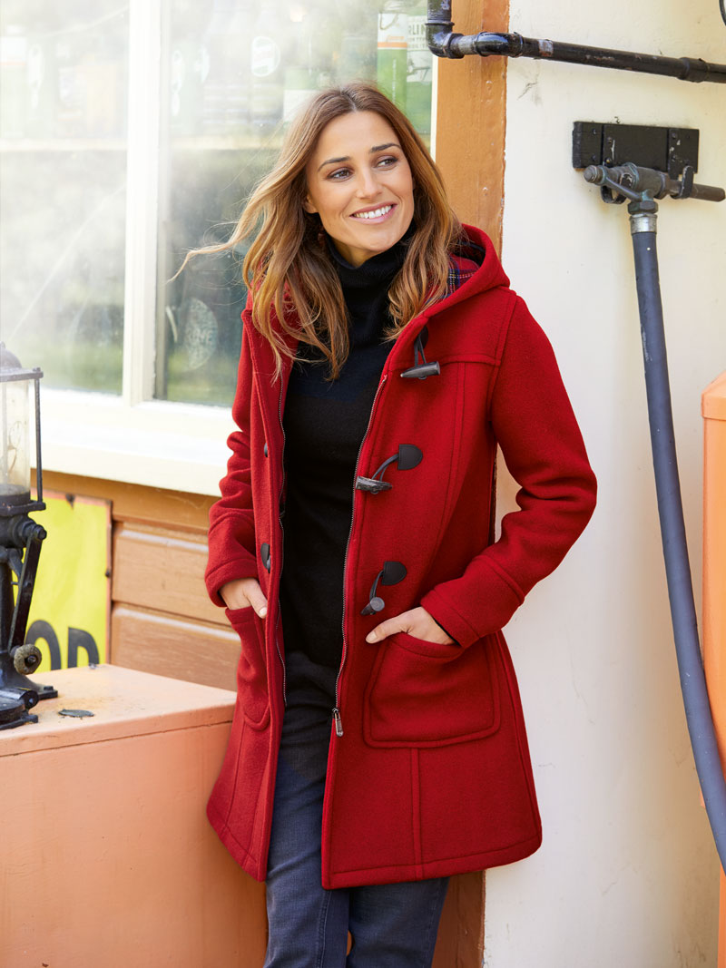 Dufflecoat in Cherry Red von London Tradition