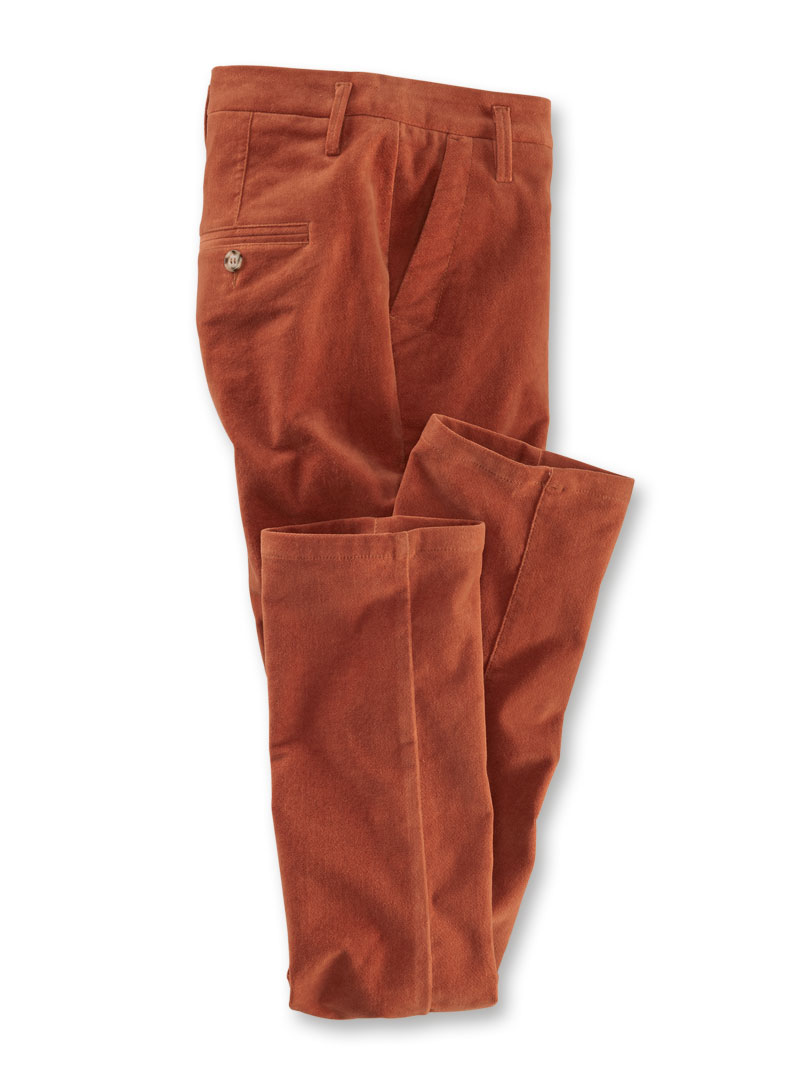 Chino aus Samt in Orange
