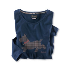 Barbour-Shirt 'Scottish Dog' in Navy
