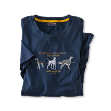 Sommer-T-Shirt 'Hunting Association' in Navy