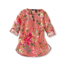 Shirt-Bluse 'Glendurgan Garden' in Flamingo