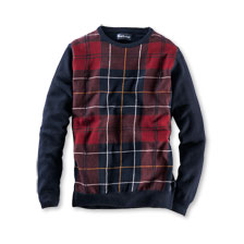 Barbour-Pullover im 'Highland Check' in Navy