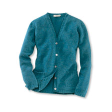 Strickjacke in Petrol