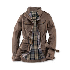 Barbour-Leinen-Jacke in Camel