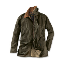 Barbours 'Lightweight'-Wachsjacke in Grün