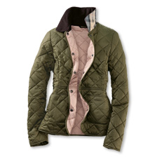 Barbour-Steppjacke 'Deveron' in Oliv