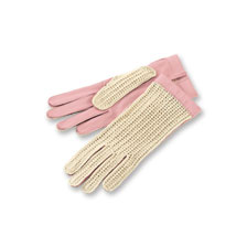 Handgenähte 'Driving Gloves' in Rosé von Chester Jefferies