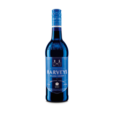 Harveys Sherry in blauer Flasche