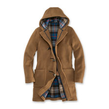 Herrendufflecoat in Camel