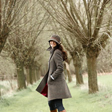 Modisch femininer 'Harris - Tweed' - Mantel