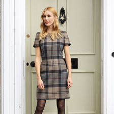 Barbour-Kleid im 'Winter Tartan'