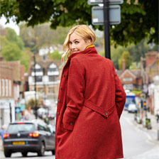 Avocas 'Mystic Coat' in Bright Red