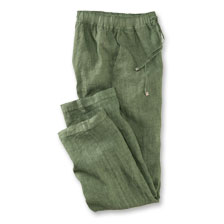 Robertson-Hose aus irischem Leinen in Irish Green