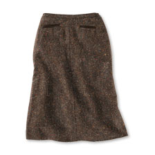 Wollrock aus Donegal Tweed in Braun