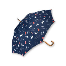 Robertson-Schirm 'It's raining Cats and Dogs' in Navy