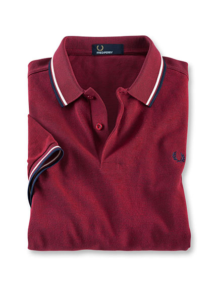 Polo in Rot von Fred Perry