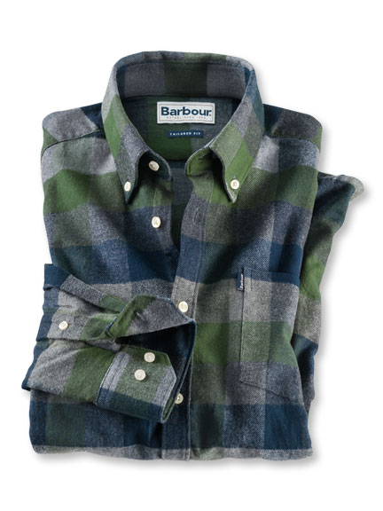 Barbour-Flanellhemd in Racing Green