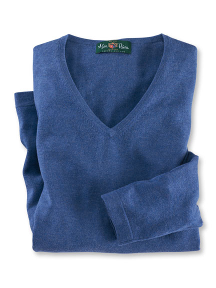 'Bluebell'-Pullover in Denimblau von Alan Paine