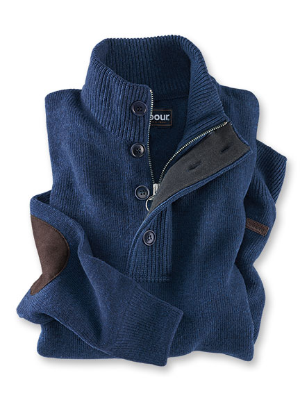 Kerniger Strickpullover in Deep Blue von Barbour