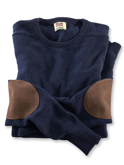 Sportiver Kamelhaar-Pullover in Navy von William Lockie