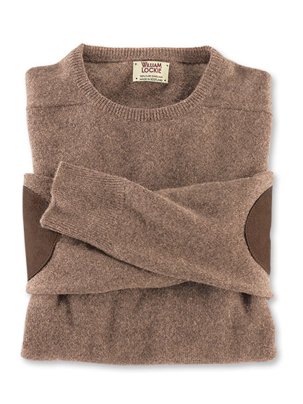 Sportiver Kamelhaar-Pullover in Camel von William Lockie