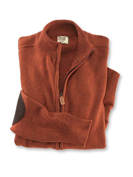 Zip-Jacke in Burnt Orange von William Lockie