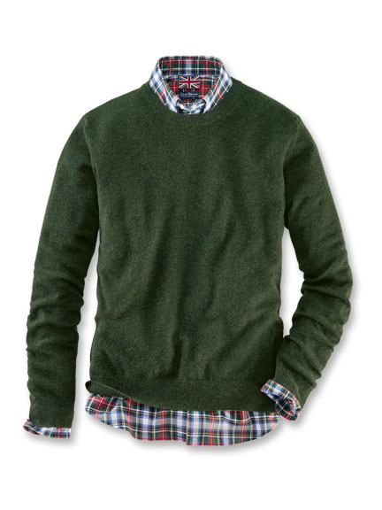 Robertson-Pullover 'Kingsley' aus Kaschmir in Racing Green