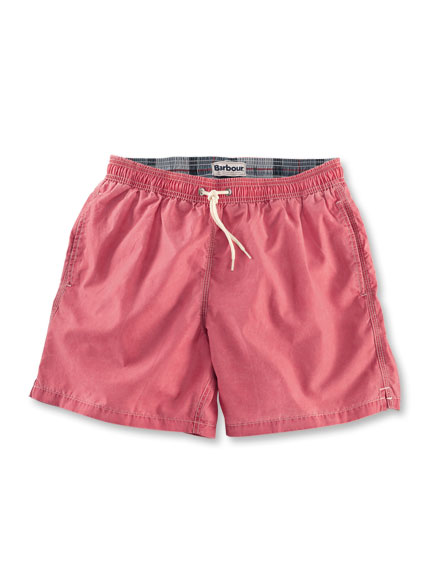 Barbour Badeshorts in Rot