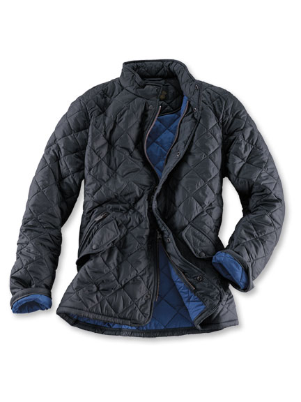Barbour-Steppjacke in Graphit