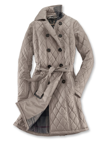 Stepp-Mantel 'Arran Quilt' von Barbour in Stone