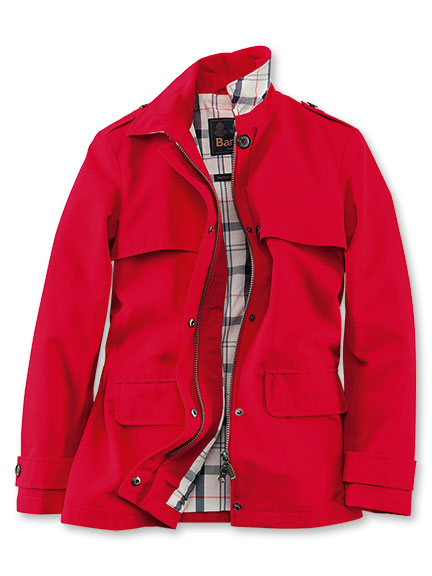 Barbour-Trenchjacke in Rot