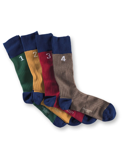 Hackett-Socken 'One, Two, Three, Four'