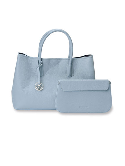 Ledertasche 'Luxury Bag' in Powder Blue