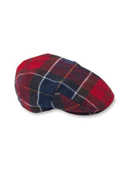 Barbour-Kappe aus Tweed von Moon in Red Tartan