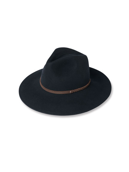 Wollhut 'Fedora' in Navy von Barbour