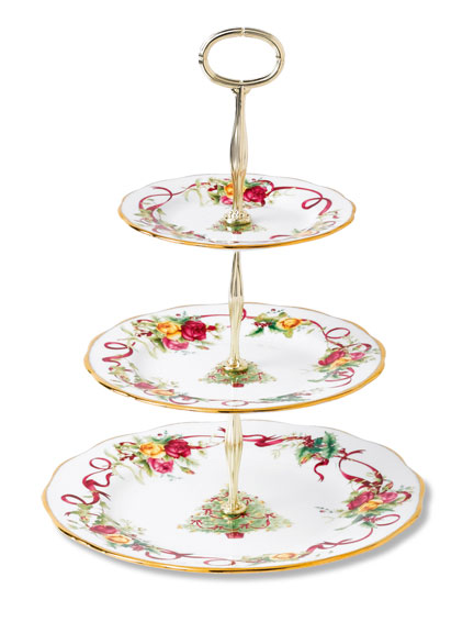 Etagere 'Old Country Roses Christmas' von Royal Albert