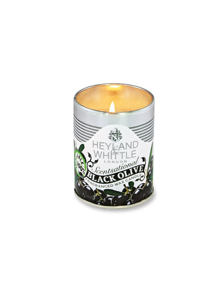 Duftkerze 'Candle in a tin' Black Olive