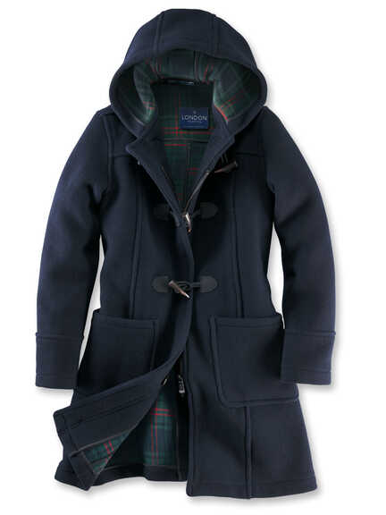 Original englischer Dufflecoat in Navy von London Tradition