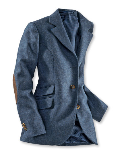 Country-Blazer in Denimblau aus Wolltuch von Robert Noble