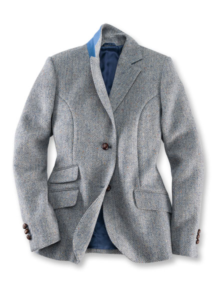 Country-Blazer 'Inverness' in Bleu und Ecru