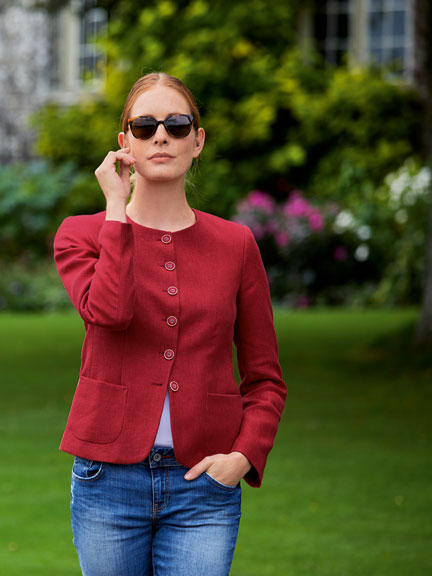 Kinbury-Blazer 'Ruby Red' in Mohnrot