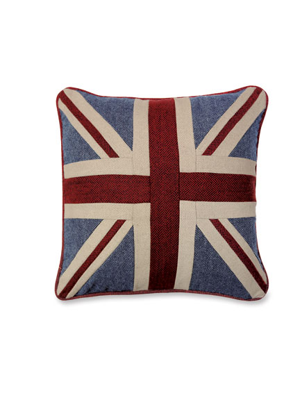 Tweed-Kissen 'Union Jack'