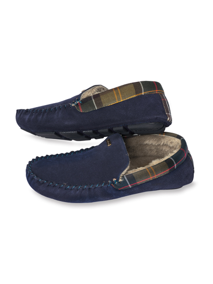 Barbour-Hausschuh 'Monty' in Navy